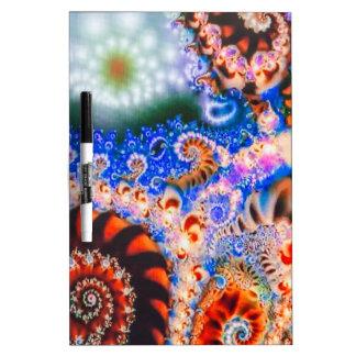 Helder gekleurde fractals whiteboard