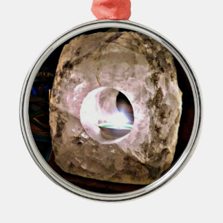 Helder Gloeien van de Houder van de Kaars van het Zilverkleurig Rond Ornament