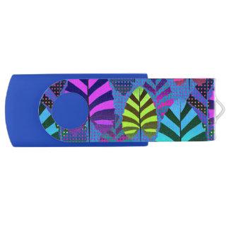 Helder Modern Patroon 437 van het Blad Swivel USB 2.0 Stick