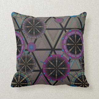 Helder patroon van cirkels en driehoeken sierkussen