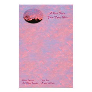 Helder Roze Zonsopgang Briefpapier