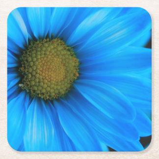 Heldere Blauwe Daisy Vierkante Onderzetter