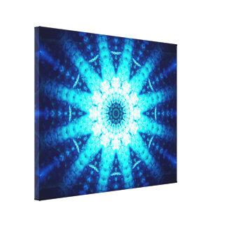 Heldere Blauwe Energie Canvas Print