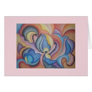 Heldere en gewaagde capricieuze abstracte kunst kaart