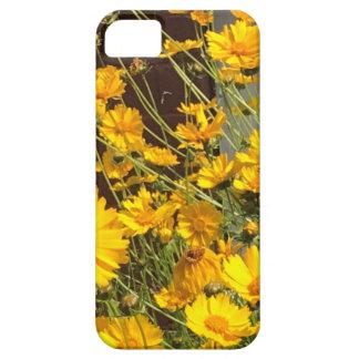 Heldere gelukkige gele bloemen in een bos barely there iPhone 5 hoesje