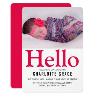 Heldere Gepersonaliseerde Roze van het Baby van Kaart