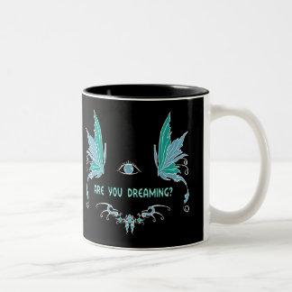 Heldere het dromen koffiemok