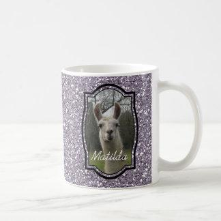 Heldere het Fonkelen van N Lama in Lavendel Smokey Koffiemok