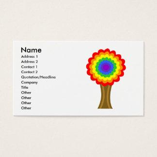 Heldere Kleurrijke Boom in de Kleuren van de Visitekaartjes