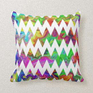 Heldere Multicolored Zigzag Sierkussen