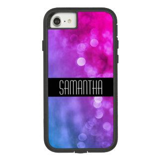 Heldere Paarse, Blauwe Lichten Bokeh Case-Mate Tough Extreme iPhone 8/7 Hoesje