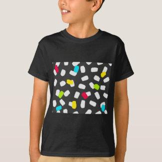 Heldere Penseelstreken op Grijs T Shirt