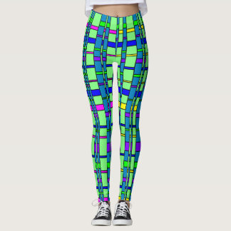 Heldere Plaid Leggings