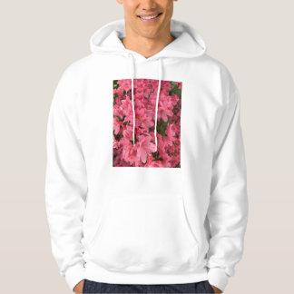 Heldere roze bloeiende struik hoodie