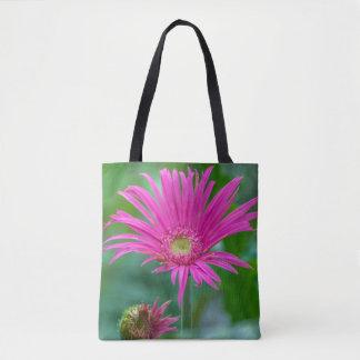 Heldere roze bloem helemaal over - de zak van het draagtas