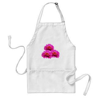 Heldere Roze Zinnia Flowers Standaard Schort