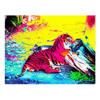 Heldere tijger briefkaart