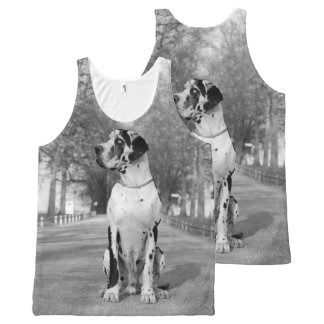 Helemaal over Great dane All-Over-Print Tank Top
