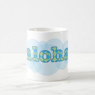 Hello in Hawaiiaan - Aloha met argylepatroon Koffiemok