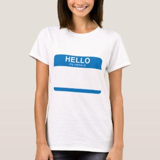 Hello Mijn Naam is - Blauw T Shirt