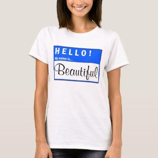 Hello Mijn Naam is de Mooie T-shirt van de Pret