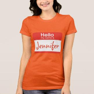 Hello Mijn Naam is de T-shirt van het Naamplaatje