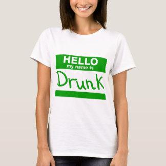 Hello Mijn Naam is Dronken T-shirt