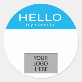 Hello Mijn Naam is - met het Logo van de Douane Ronde Sticker