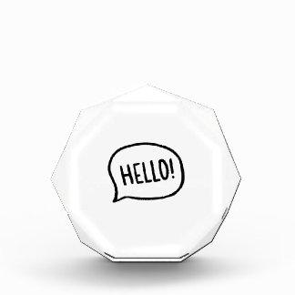 Hello! Wereld! Ik ben hier Acryl Prijs