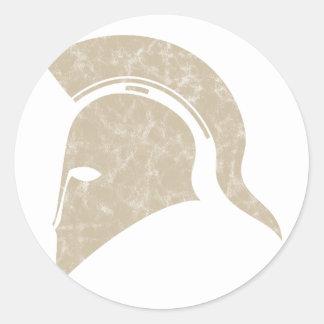 helm ronde sticker