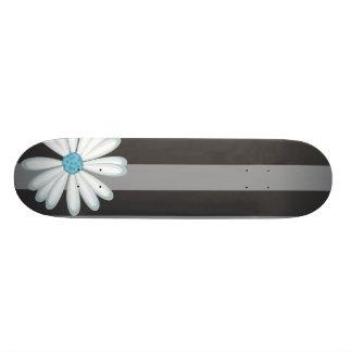Hemel Blauwe Bloemen Rennende StammenDaisy Tattoo  18,1 Cm Old School Skateboard Deck