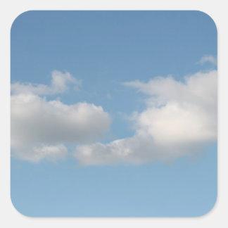 Hemel met Wolken Vierkante Sticker