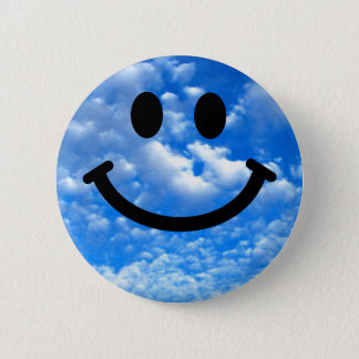 Hemel Smiley Ronde Button 5,7 Cm