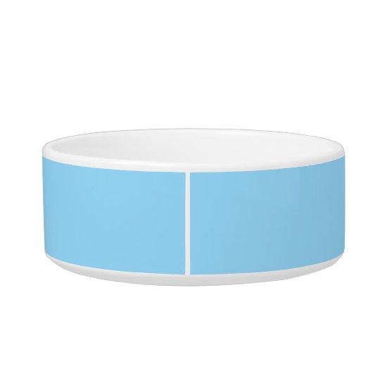 Hemelse Blauwe Eenvoudige Gecoördineerde Kleur Voerbakje