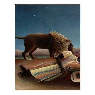 Henri Rousseau de Zigeuner van de Slaap Briefkaart