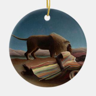 Henri Rousseau de Zigeuner van de Slaap Rond Keramisch Ornament