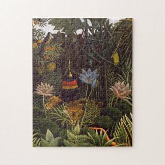 Henri Rousseau Het Schilderen van de Bloemen van Legpuzzel