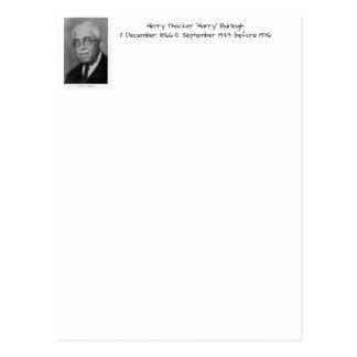 "Henry Thacker ""Harry"" Burleigh Briefkaart"