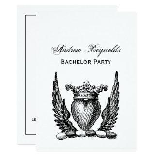 Heraldisch Hart met CREST van het Wapenschild van 12,7x17,8 Uitnodiging Kaart