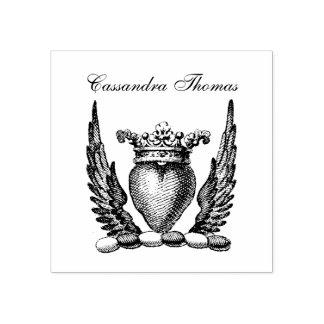 Heraldisch Hart met CREST van het Wapenschild van Rubberstempel