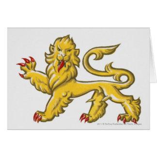 Heraldisch symbool van leeuw statant guardant briefkaarten 0