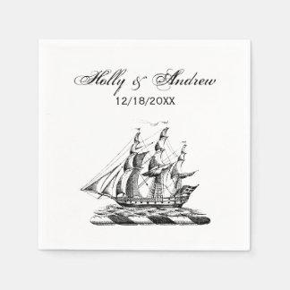 Heraldisch Vintage ZeevaartClipper CREST van het Papieren Servet