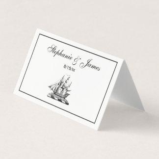 Heraldisch Vintage ZeevaartClipper CREST van het Plaatskaart