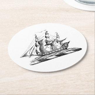 Heraldisch Vintage ZeevaartClipper CREST van het Ronde Onderzetter