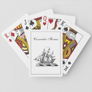Heraldisch Vintage ZeevaartClipper CREST van het Speelkaarten