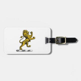 Heraldische Leeuw die het Embleem C bevinden zich Kofferlabel