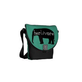 Herbivore - Olifant - Blauw Courier Bags