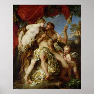 Hercules en Omphale, 1724 Poster