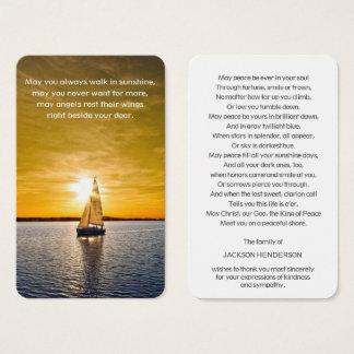 Herdenkings BegrafenisKaart | van het Gebed Boot & Visitekaartjes