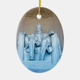 Herdenkings het beeldhouwwerkWashington DC van Keramisch Ovaal Ornament